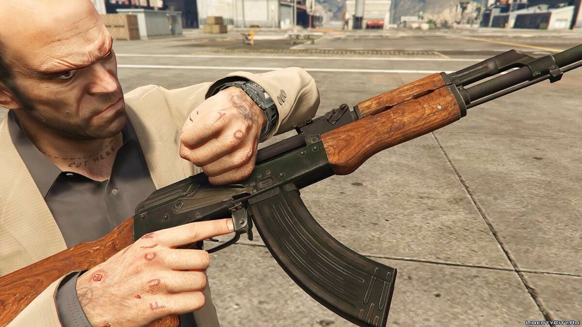Оружейный мод AK-47 из Modern Warfare Remastered для GTA 5