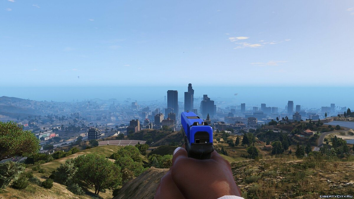 Blue Glock Slide 0.96 для GTA 5