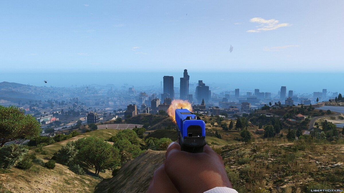 Blue Glock Slide 0.96 для GTA 5 - скриншот #3