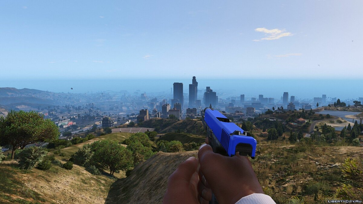 Blue Glock Slide 0.96 для GTA 5 - скриншот #6