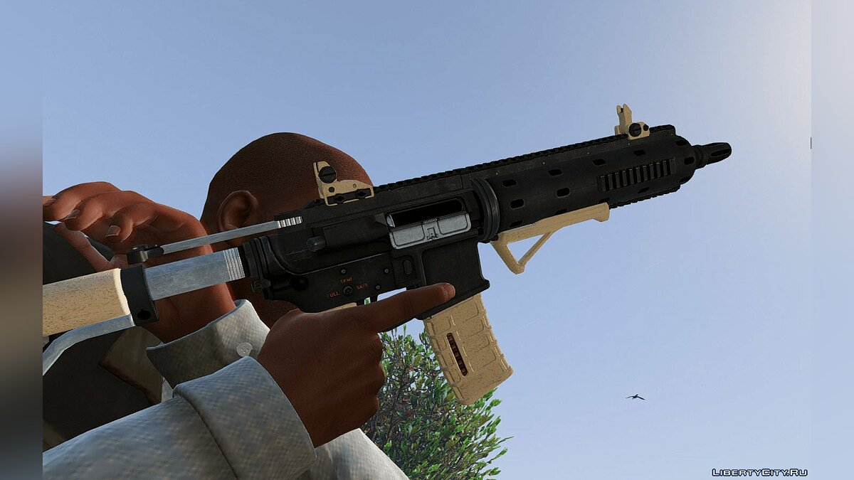 Carbine Rifle Retexture для GTA 5