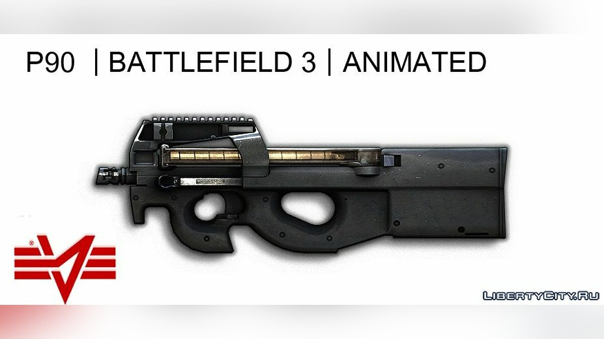 P90 (BF3) [Animated] для GTA 5