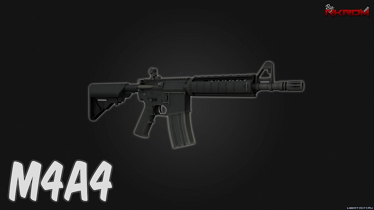 M4A4 from CS:GO [Animated + 9 Textures] 1.0 для GTA 5 - скриншот #3