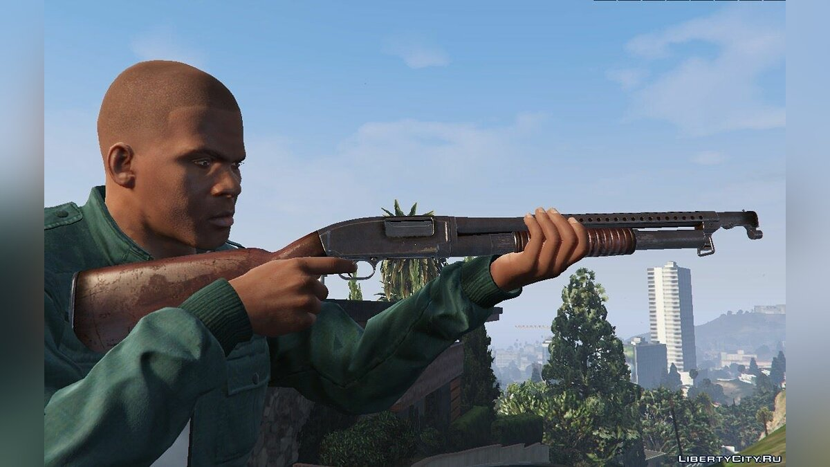 Winchester Model 12 [Animated] для GTA 5