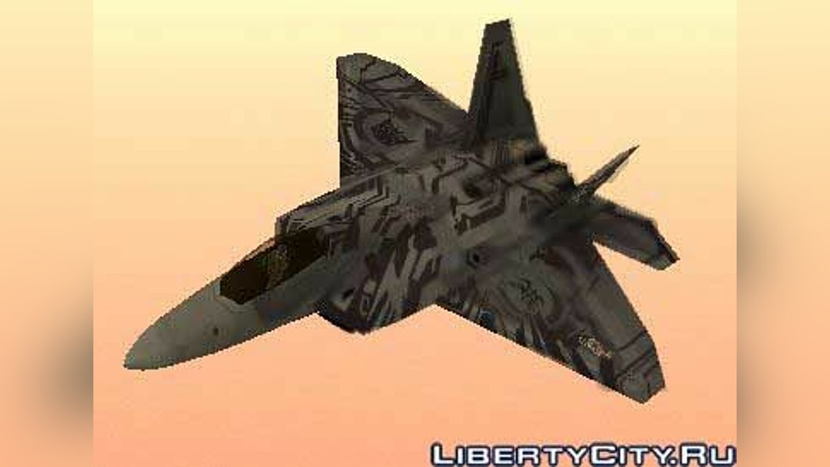 F-22 Raptor Starscream Tattoo Skin для GTA San Andreas - Картинка #1