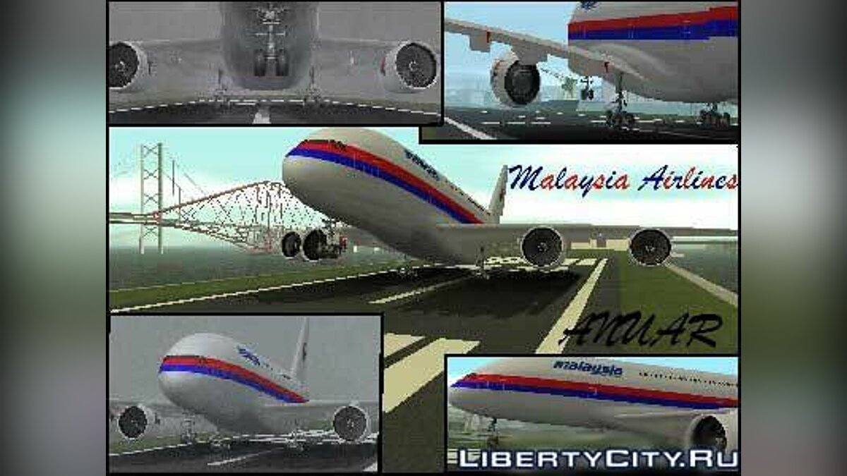 Malaysia Airlines Mod для GTA San Andreas