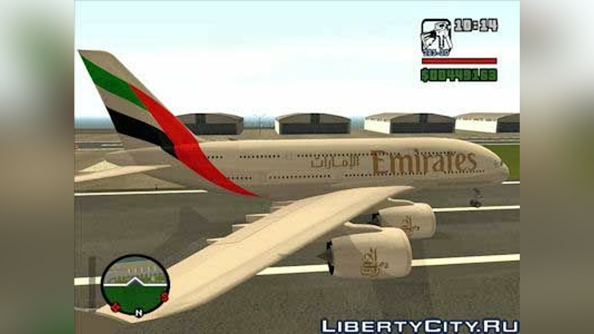 Emirates Airlines Skin Airbus A380800 для GTA San Andreas
