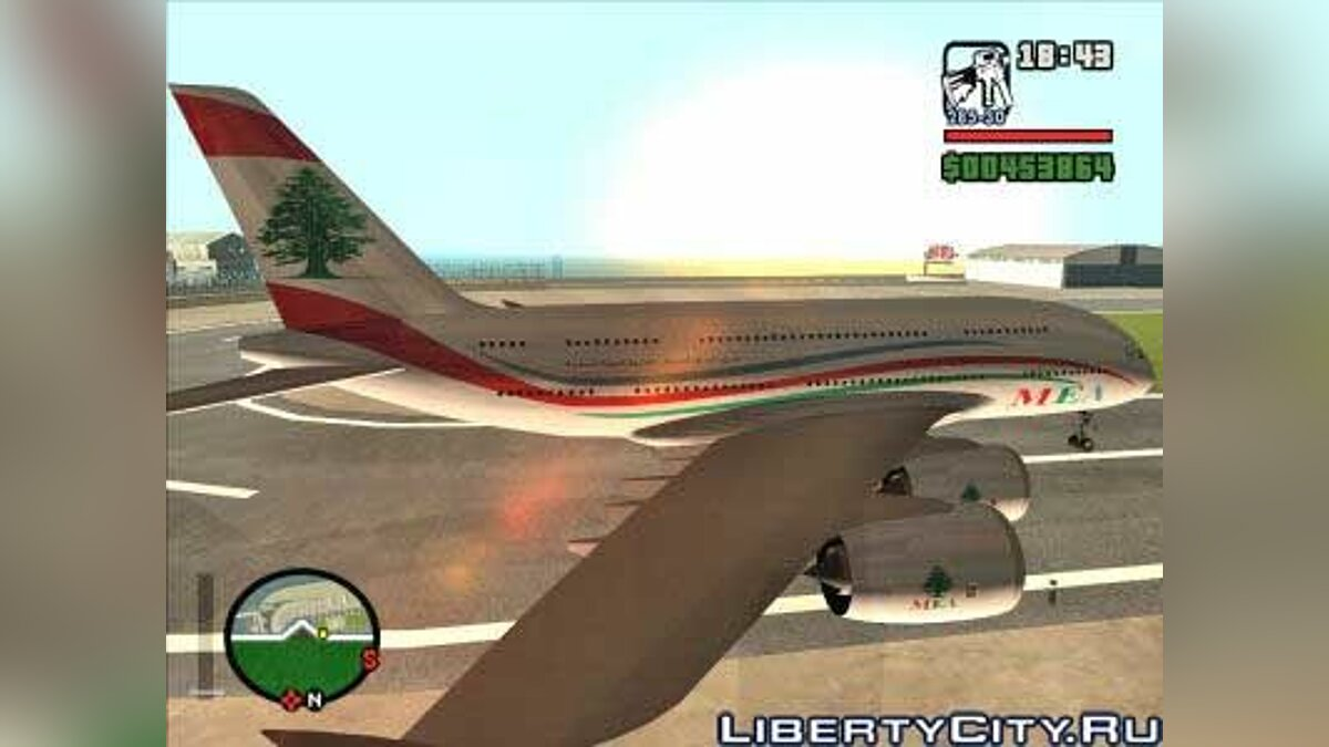 MEA Skin For Airbus A380-800 V1.1 для GTA San Andreas