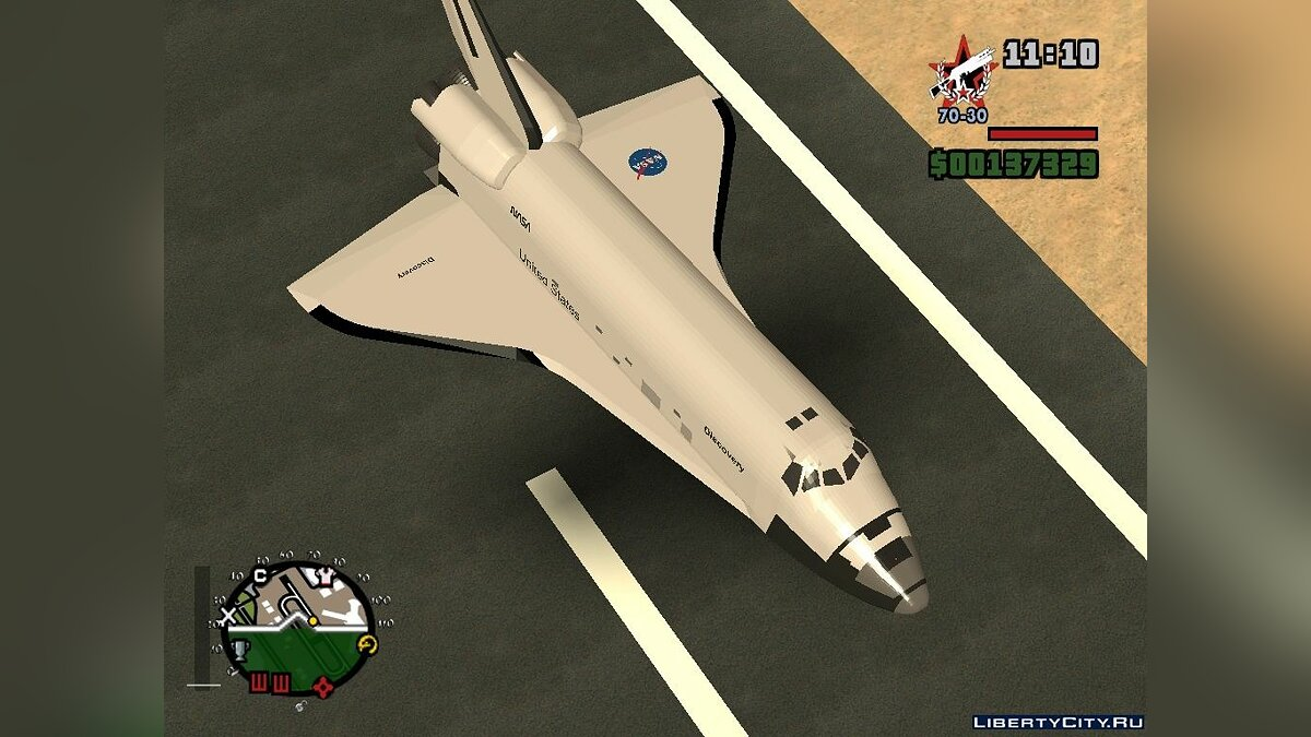 Space Shuttle Discovery для GTA San Andreas