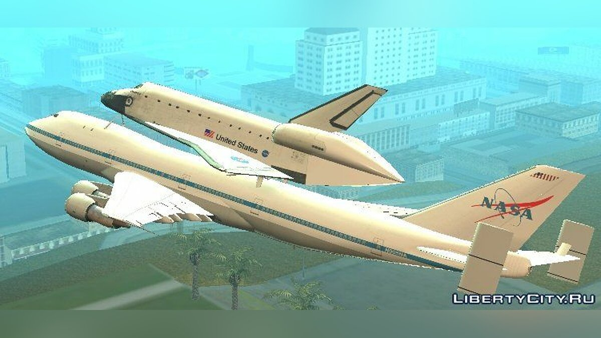 Boeing 747-100 Shuttle Carrier Aircraft для GTA San Andreas