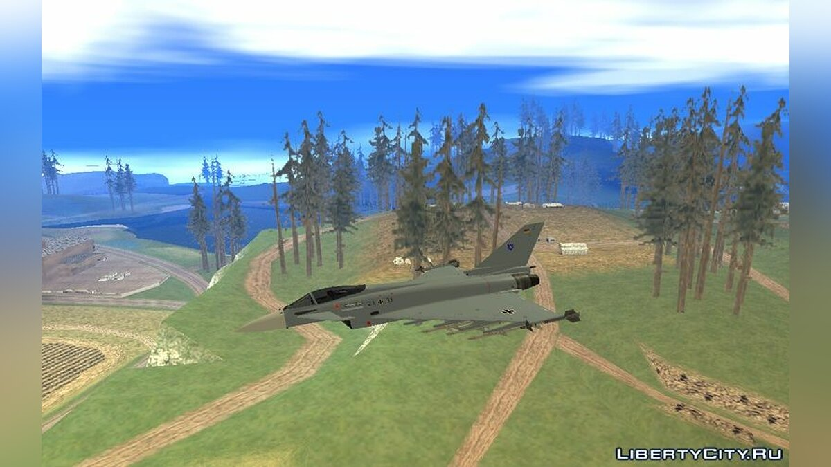 EuroFighter Typhoon 2000 Luftwaffe для GTA San Andreas - скриншот #3