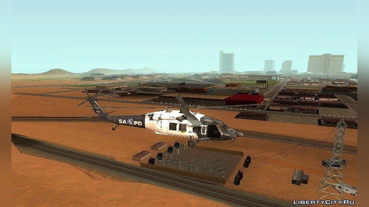 Sikorsky UH-60L Black Hawk San Andreas Pоlice Department для GTA San Andreas - скриншот #2