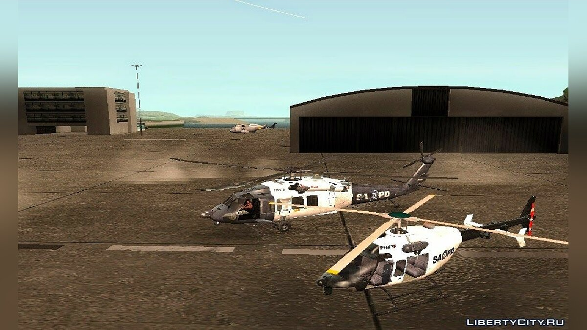 Sikorsky UH-60L Black Hawk San Andreas Pоlice Department для GTA San Andreas