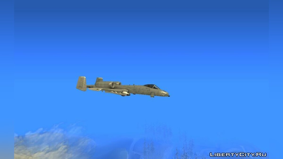 Fairchild-Republic A-10 Thunderbolt II для GTA San Andreas - скриншот #3