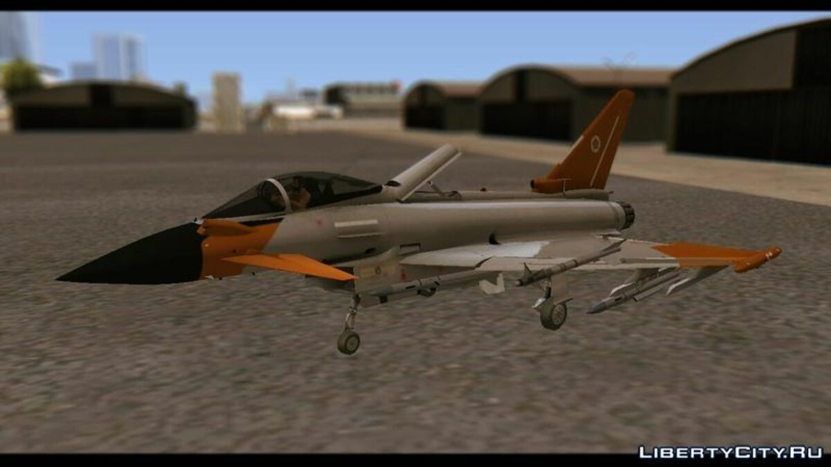 EF2000 Typhoon Federal Erusea Air Force для GTA San Andreas - скриншот #2