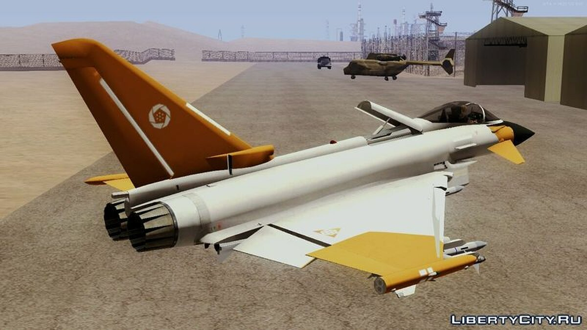 EF2000 Typhoon Federal Erusea Air Force для GTA San Andreas