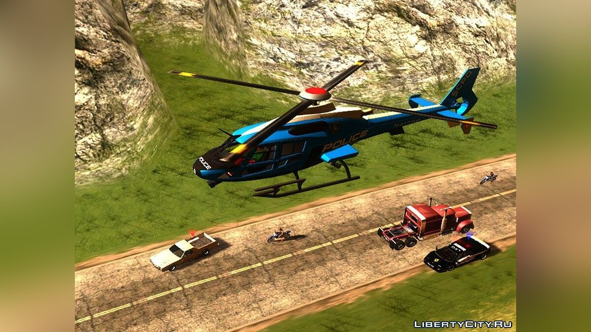 NFS HP 2010 Police Helicopter для GTA San Andreas