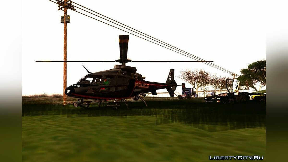 NFS HP 2010 Police Helicopter для GTA San Andreas - скриншот #2