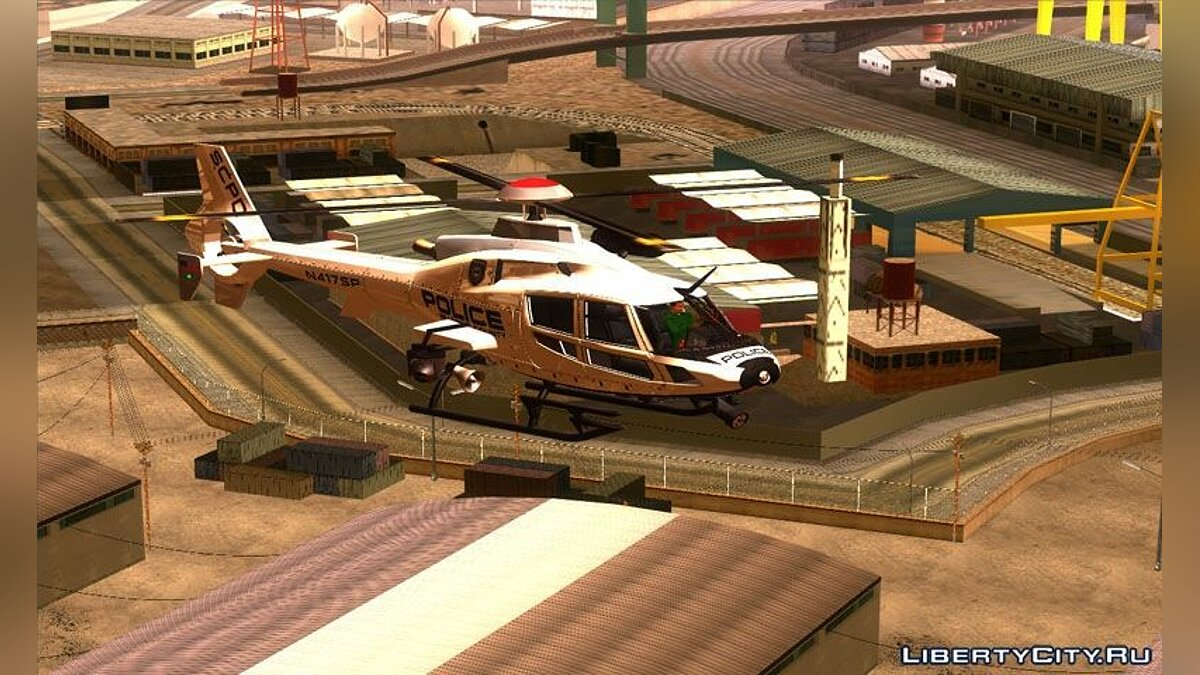 NFS HP 2010 Police Helicopter для GTA San Andreas - скриншот #3