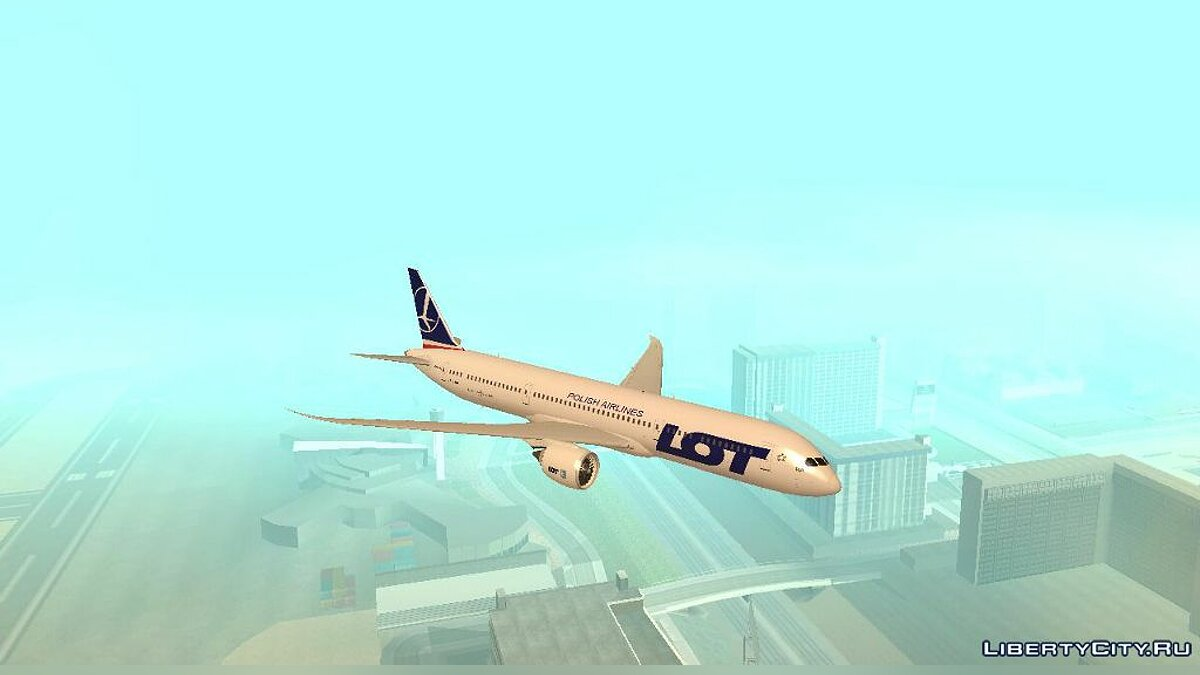 ��амолет и вертолет LOT Polish Airlines Boeing 787 Dreamliner для GTA San Andreas