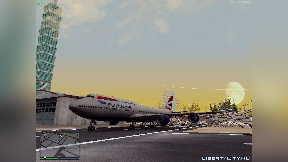 ��амолет и вертолет 747 8i British Airways для GTA San Andreas