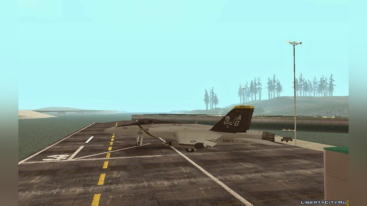 FA-18 Jolly Roger Original для GTA San Andreas
