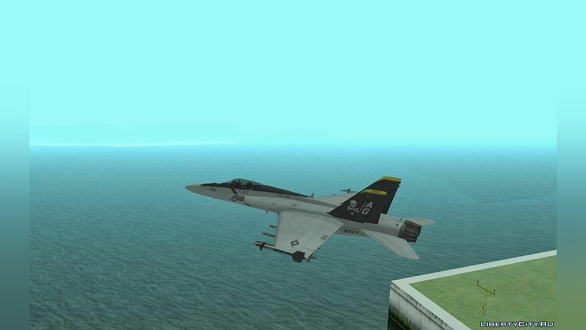 FA-18 Jolly Roger Original для GTA San Andreas - скриншот #4