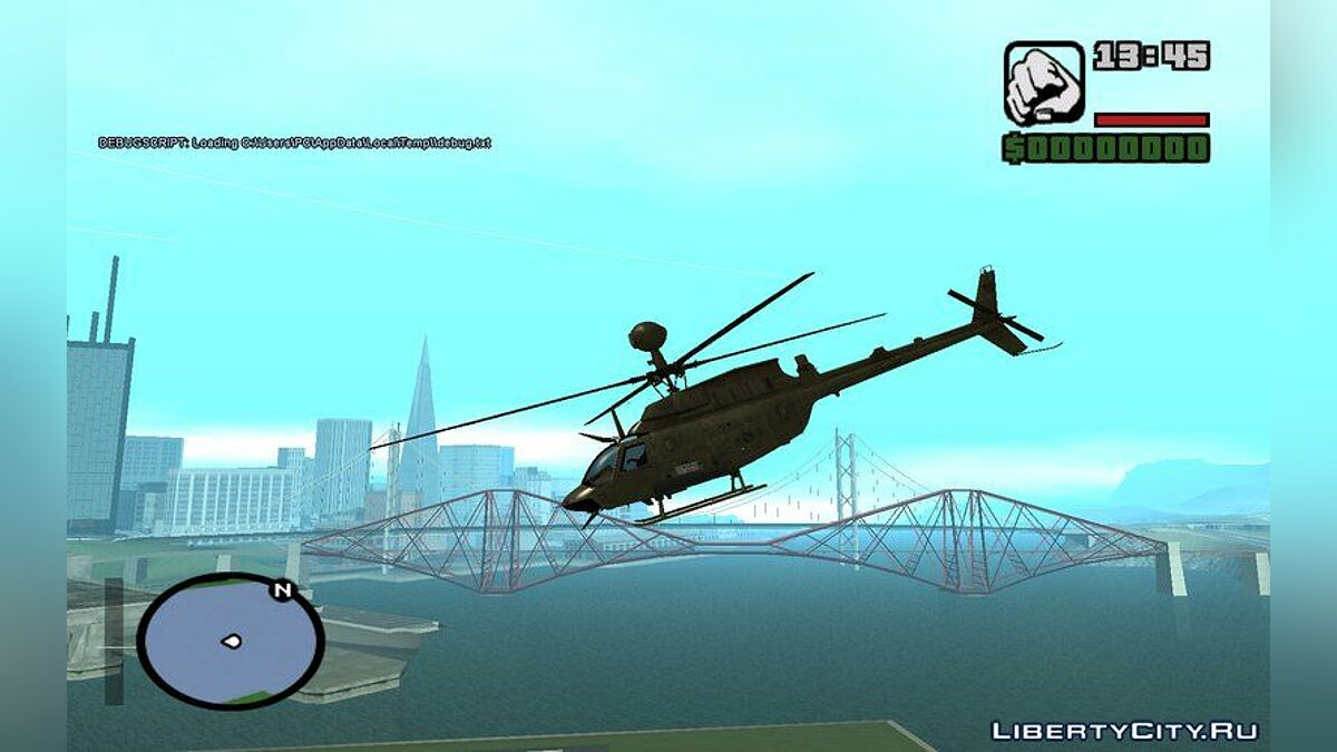 OH-58D Croatian Air Force для GTA San Andreas - скриншот #4