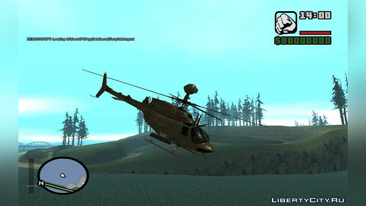 OH-58D Croatian Air Force для GTA San Andreas - скриншот #3