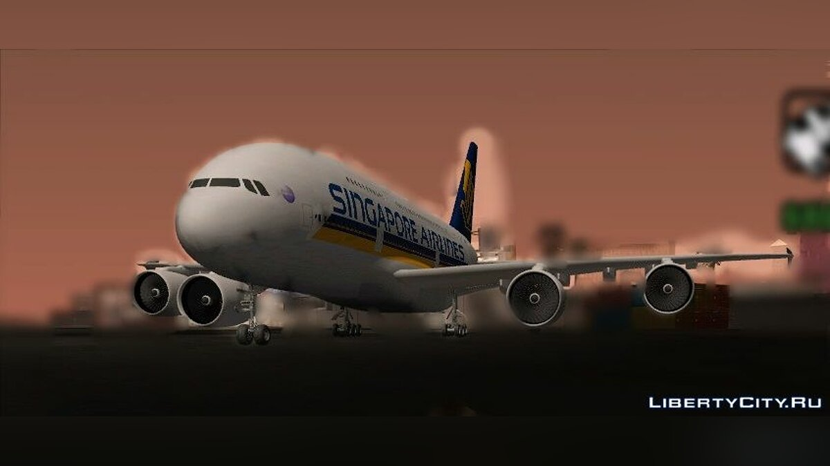 Singapore Airline A380-800 для GTA San Andreas