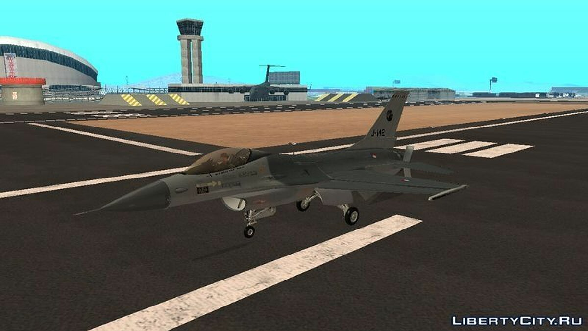 F-16 Fighting Falcon RNLAF Solo Display J-142 2014-2015 для GTA San Andreas