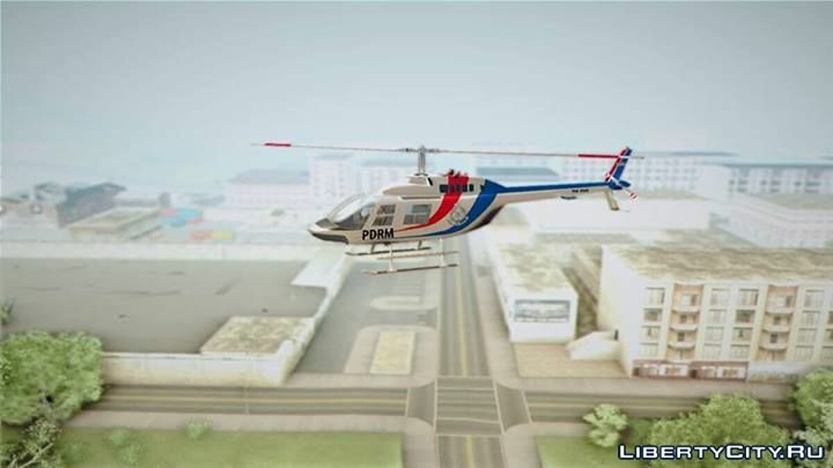 Malaysian Polis Helicopter Eurocopter Squirrel AS-355N для GTA San Andreas