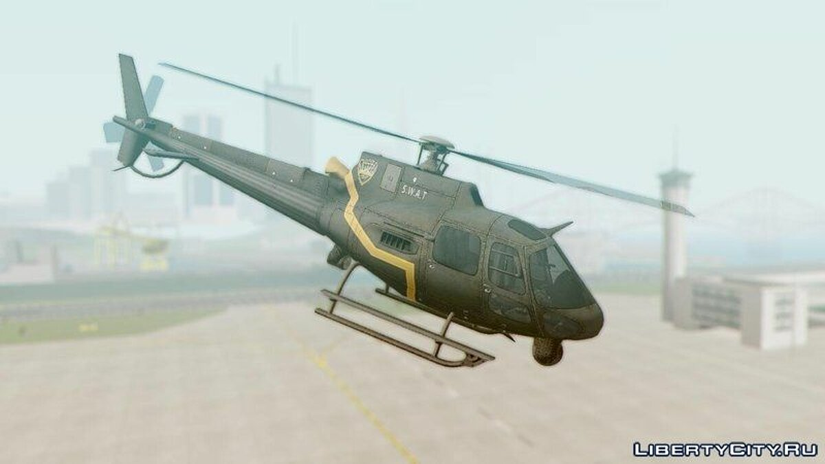 Самолет и вертолет Batman Arkham Knight Police-Swat Helicopter для GTA San Andreas