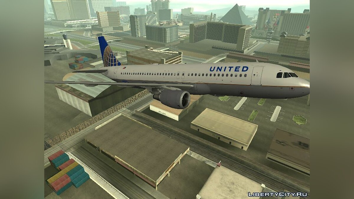 United Airlines Airbus A320-200 для GTA San Andreas - скриншот #2