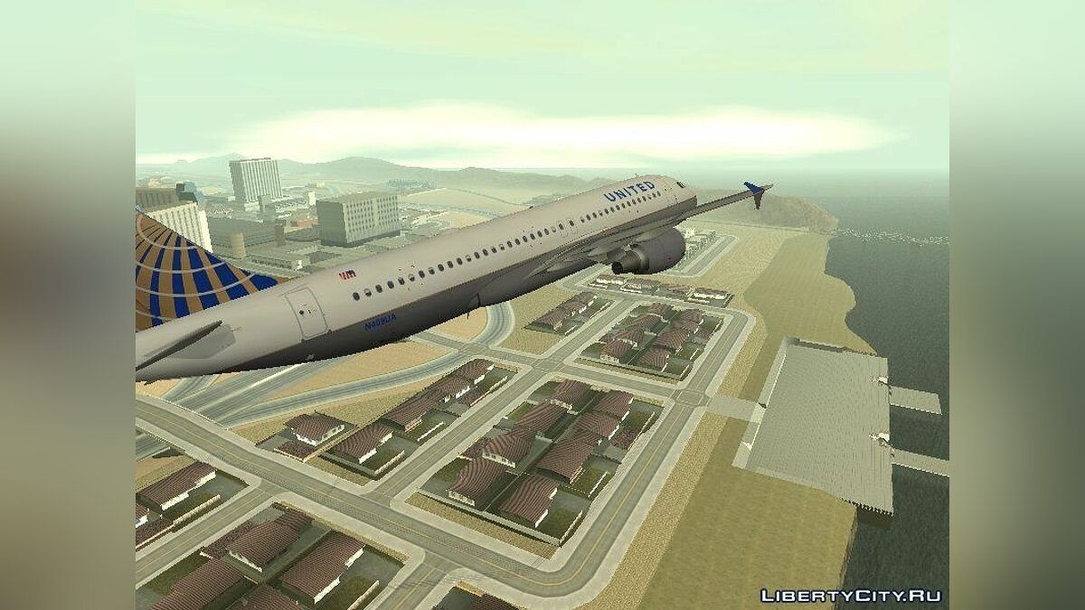 United Airlines Airbus A320-200 для GTA San Andreas - скриншот #3