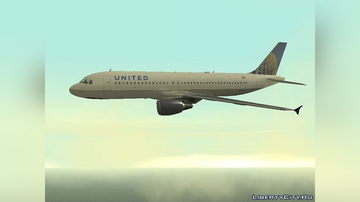United Airlines Airbus A320-200 для GTA San Andreas