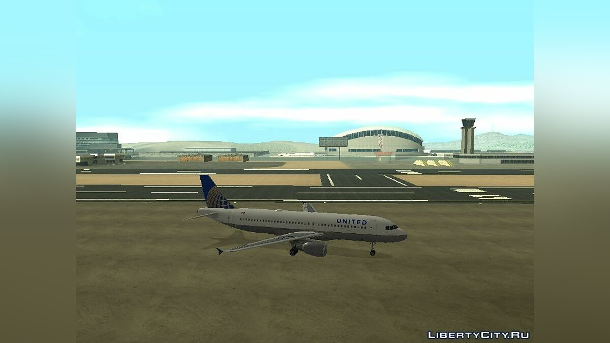 United Airlines Airbus A320-200 для GTA San Andreas - скриншот #4
