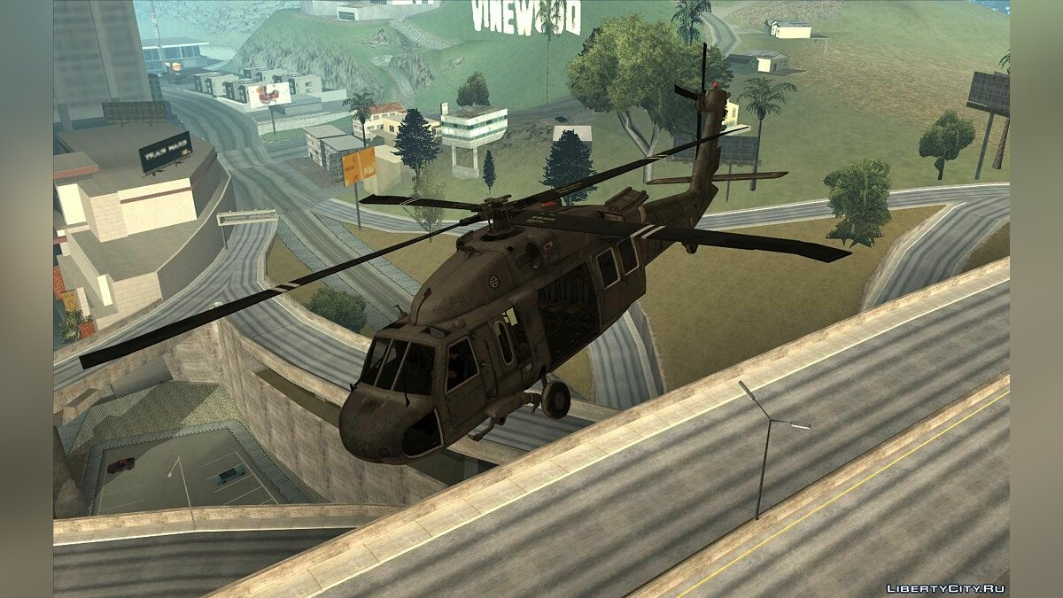 "UH-60 ""Black Hawk"" Modern Warfare 3 для GTA San Andreas - скриншот #2"