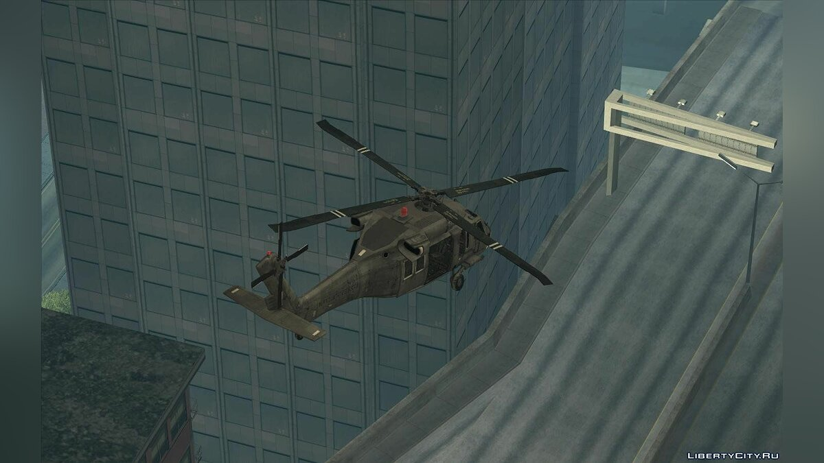 "UH-60 ""Black Hawk"" Modern Warfare 3 для GTA San Andreas - скриншот #5"