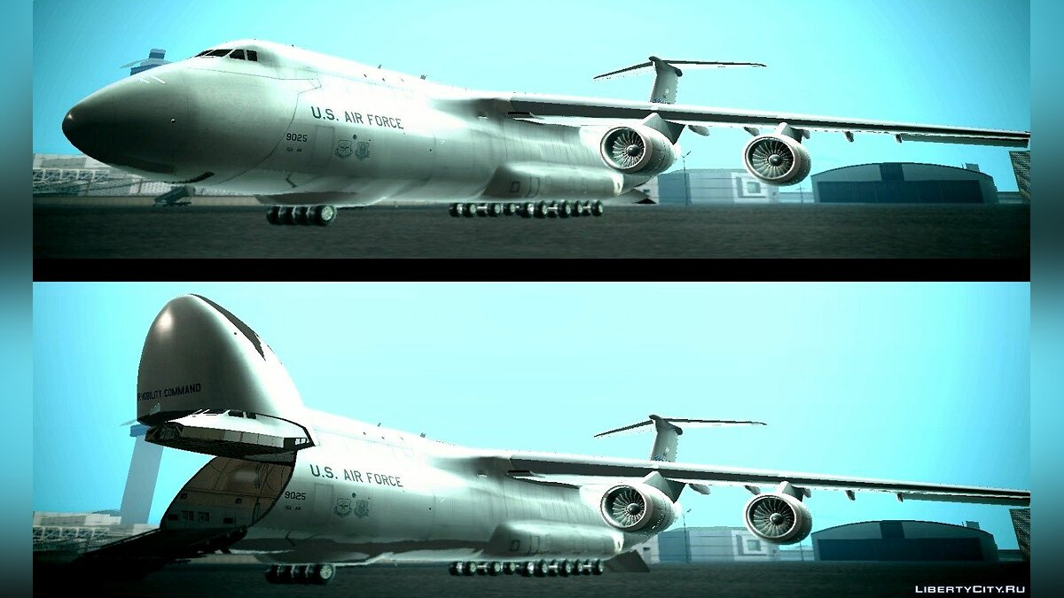 Lockheed C-5M Galaxy для GTA San Andreas - скриншот #4