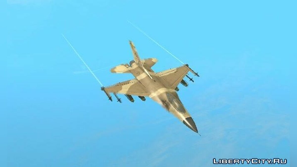 F-16 Fighter-Bomber Desert Camo для GTA San Andreas - скриншот #2