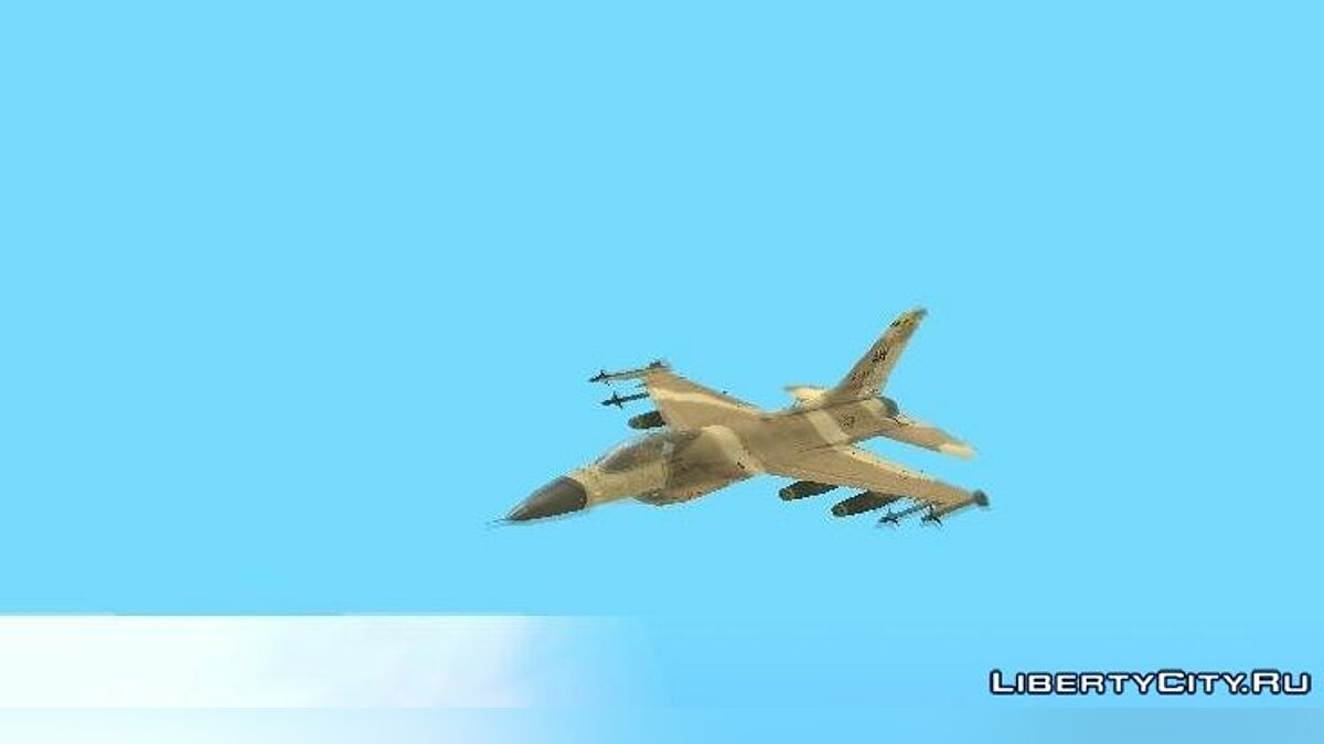 F-16 Fighter-Bomber Desert Camo для GTA San Andreas - скриншот #3