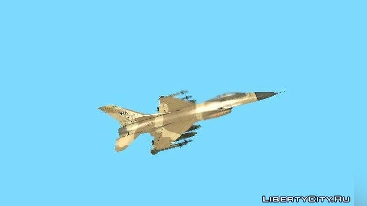 F-16 Fighter-Bomber Desert Camo для GTA San Andreas - скриншот #4