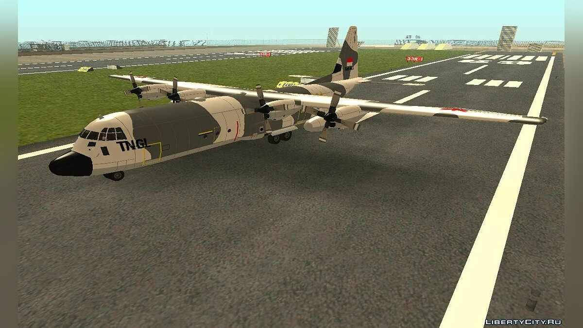 C-130 Hercules Indonesia Air Force - Snow Camo для GTA San Andreas