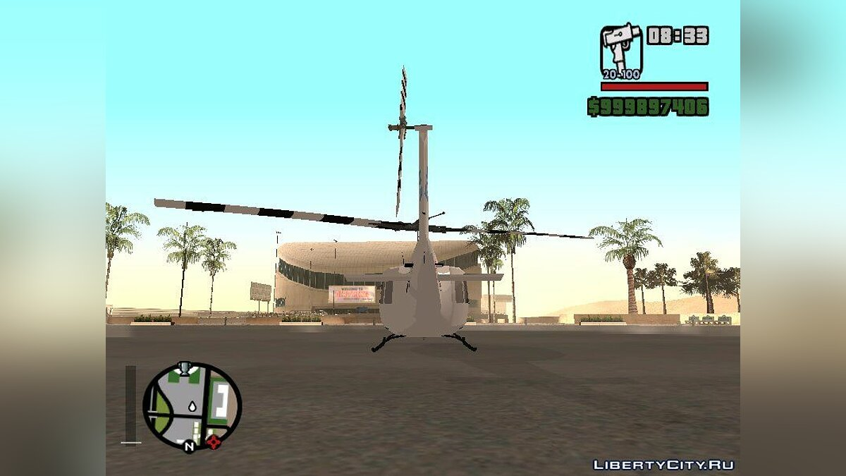 Самолет и вертолет Bell UH-1 Huey United Nations - Военный вертолёт для GTA San Andreas