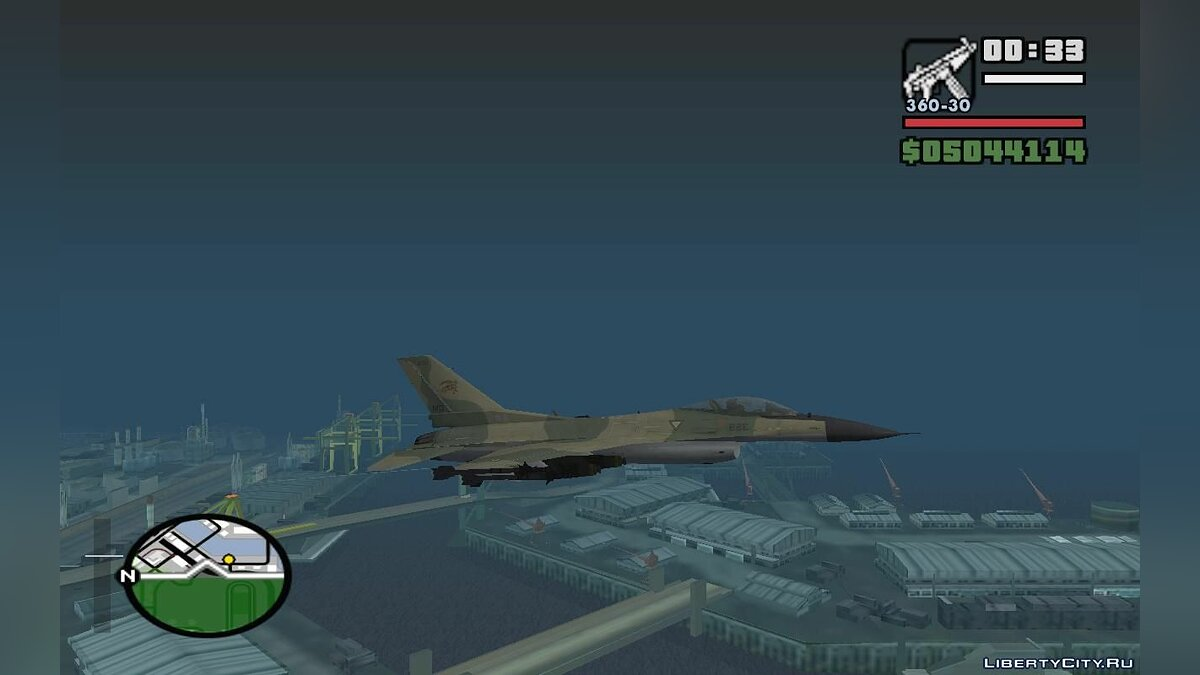 F-16 Fighter-Bomber Green-Brown Camo для GTA San Andreas - скриншот #2