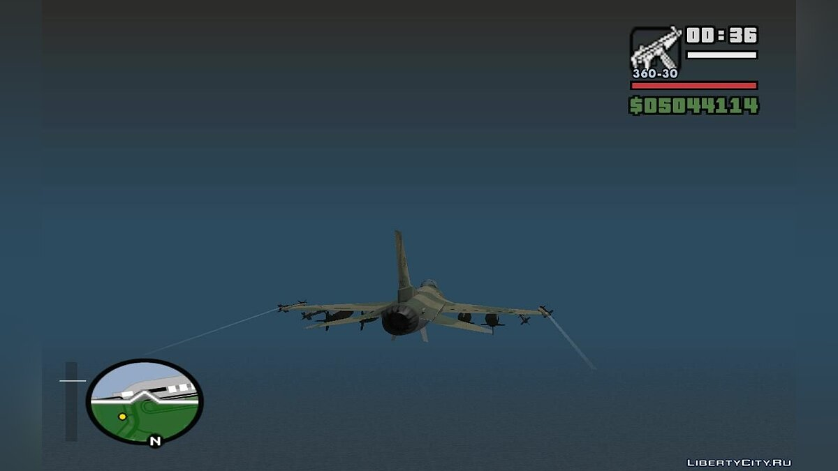 F-16 Fighter-Bomber Green-Brown Camo для GTA San Andreas - скриншот #3