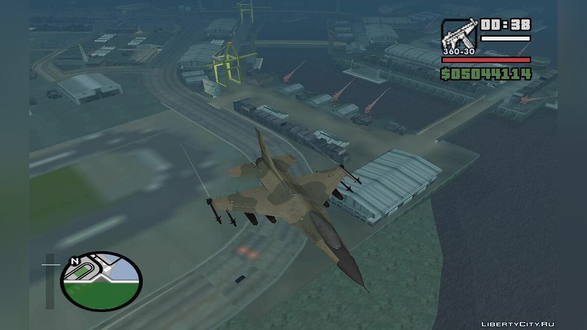 F-16 Fighter-Bomber Green-Brown Camo для GTA San Andreas - скриншот #4