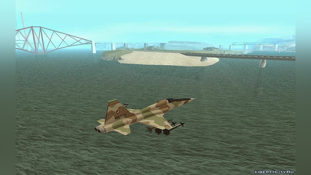 Northrop F-5 Estovakian Air Force для GTA San Andreas - скриншот #2