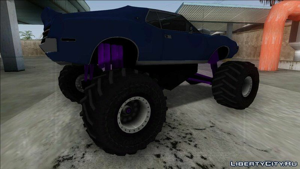 1971 AMC Javelin AMX 401 Monster Truck для GTA San Andreas - скриншот #2